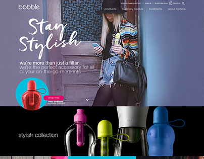 Bobble website design