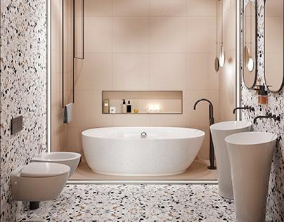 Light Small Bath Design