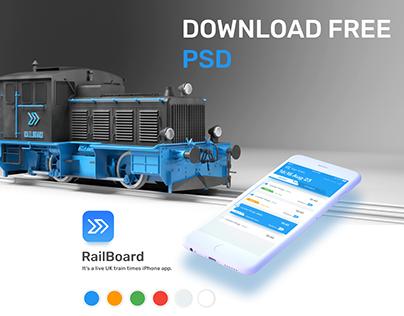 TrainApp FREE PSD Download