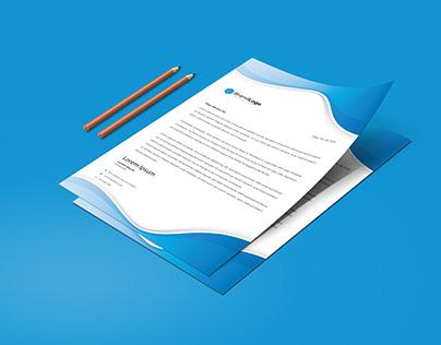 Resume and Cover letter | Letterhead Design Template