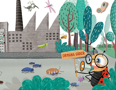Koksi and His Bug Friends // Children's Book Project