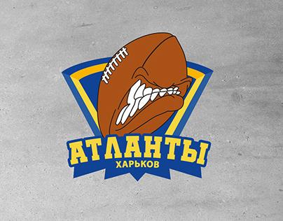 American football team ATLANTES. Logo. Kharkiv