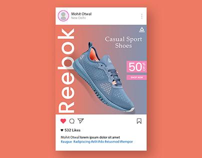 Reebok Shoes Sale Social Media Post