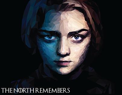 Arya Stark — Low Poly Portrait