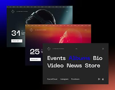 Kygo Website Concept