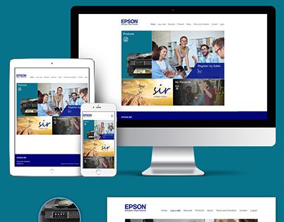 EPSON SIR Portal - UI UX Design