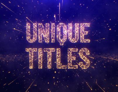Unique Particles Titles