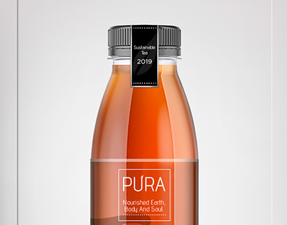 Pura-SustainableTea -Brand&Identity -Product Label