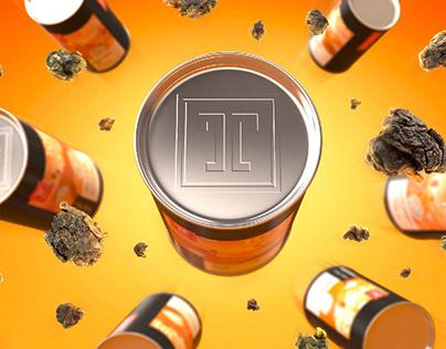 Дизайн сэта наклеек для чайного проекта THETEA
