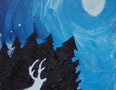 "Oil Painting: ""Night's Eye"""