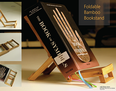 Fold-able Bamboo Bookstand
