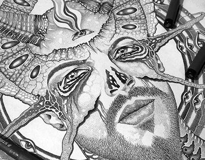 Ghosts III - Pen & ink design