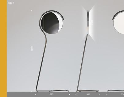 "Standing lamp-mirror ""Eclipse"""
