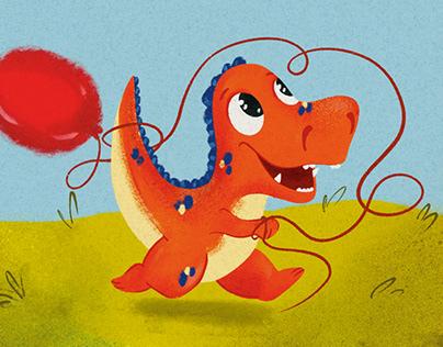 Children book illustration -Dino