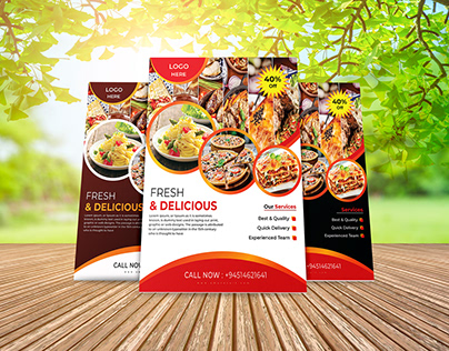 Sample Flyers Design For Food Business/ own concepts