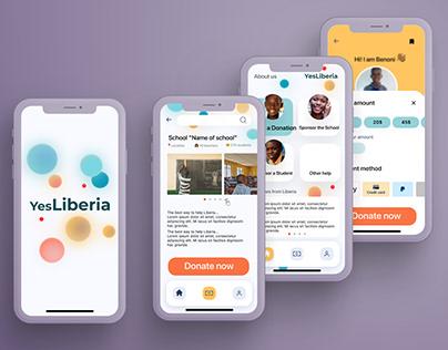 work in progress - fundraising app 'YesLiberia'