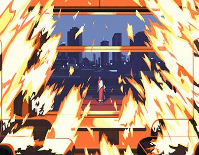 """A Burning"""
