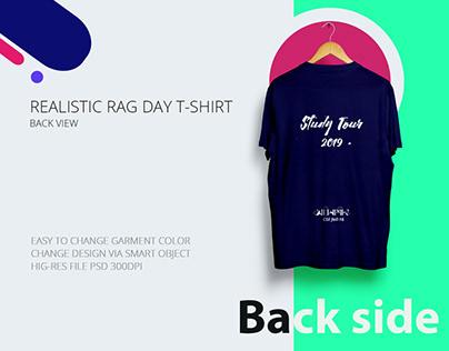 Free Realistic Rag day T-Shirt Mockup
