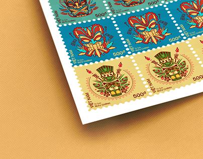 Postage Stamp - Tiki Gods