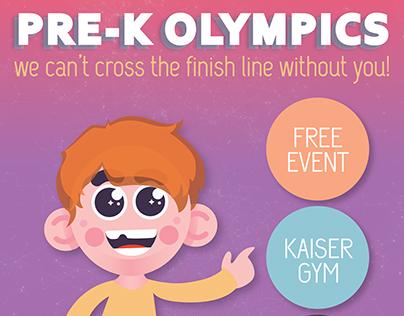 Pre-K Olympics Poster & Postcard (2017)