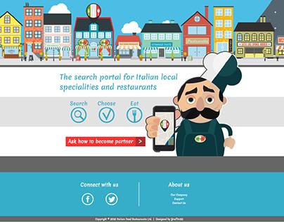 Landing Page - Italian Food Restaurants