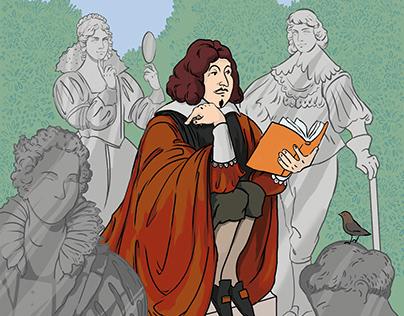 René Descartes. Illustrations for OYLA January 2021