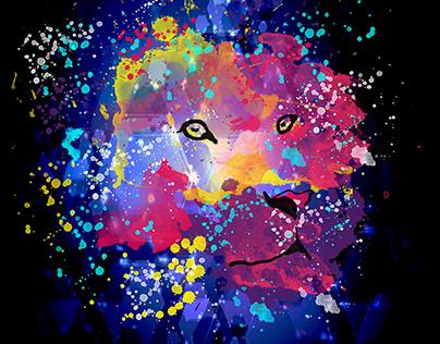 King Lion splatters