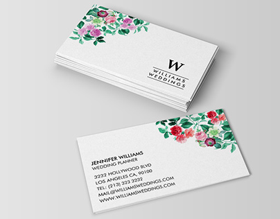 Elegant Wedding and Event Planner Business Cards