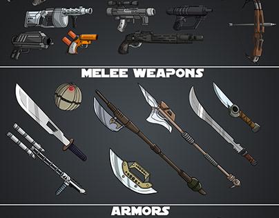 Game assets for the game Star Wars Mercenaries War