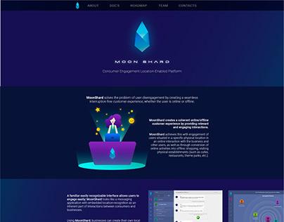 MoonShard Website Layout