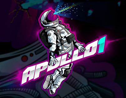Apollo 1 The Fatal Fire Mascot Logo