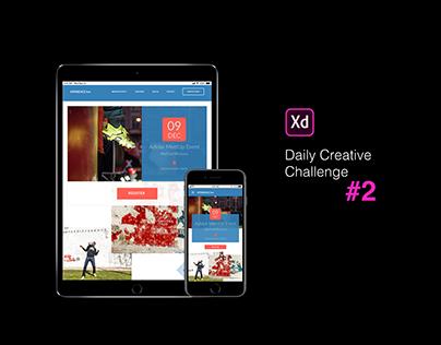 XD Daily Creative Challenge #2 Make it Responsive