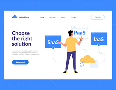 SAAS Company Hero Illustrations and Features Icons
