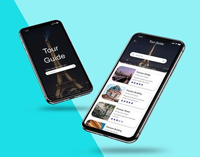 Updated tourist app design (experimental project)