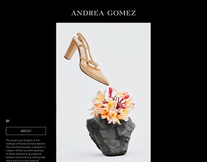 Andrea Gomez Website Design