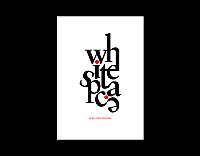 Typography Poster Series // White Space