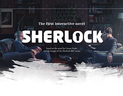 The concept of an interactive novel on Sherlock