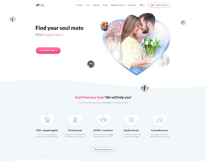 Website design of marriage agency