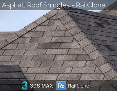 3-Tab Asphalt Roof Shingles for RailClone