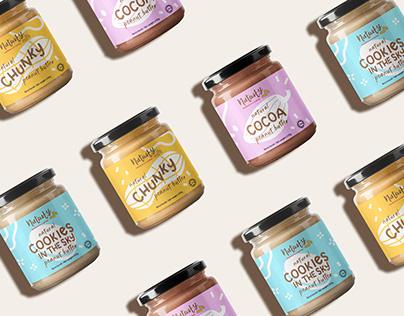 Nutasty Peanut Butter Label Design