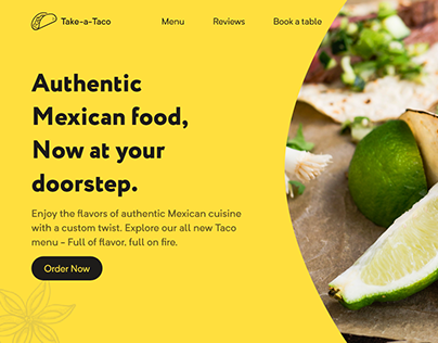 Landing page for Mexican Restaurant