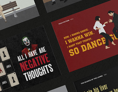 Iconic Movies: Typography Posters