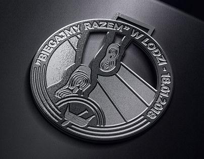 """Concept of Medal """"Biegajmy razem w Łodzi"""""""