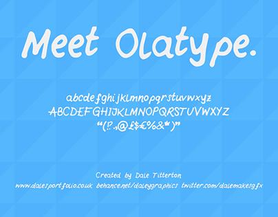 Olatype - handwritten font UPDATED DECEMBER 2016
