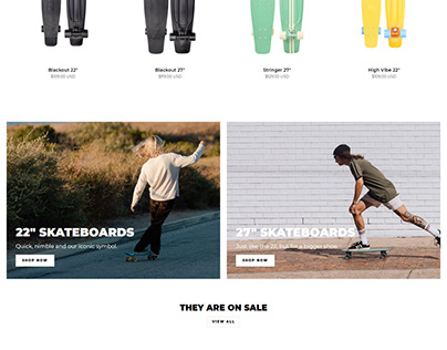 Shopify Store Design Home and Product Page