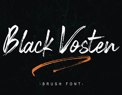FREE | Black Vosten Brush Font