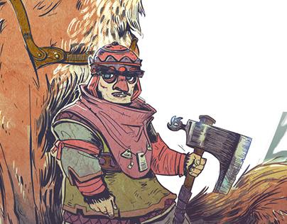 King Lanosz and his mighty fox companion Kania