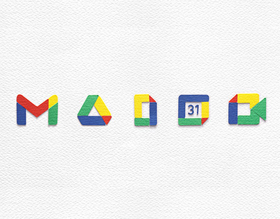 New Google services icons paper stop motion animation