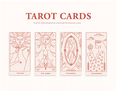 Tarot Cards - business cards backside design