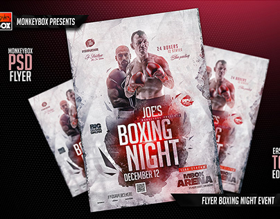 Flyer Boxing Night Event